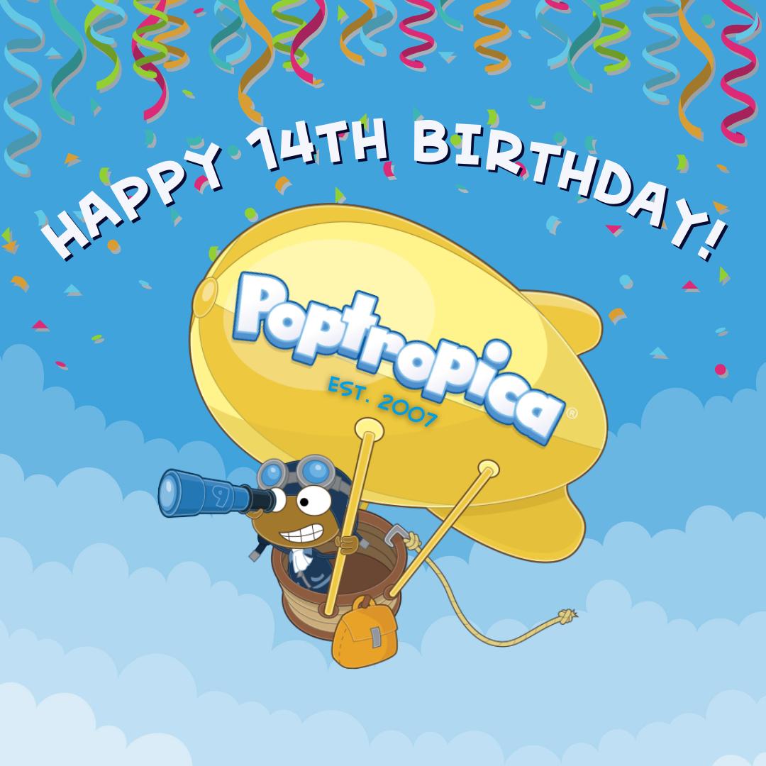 Poptropica's 14th Birthday