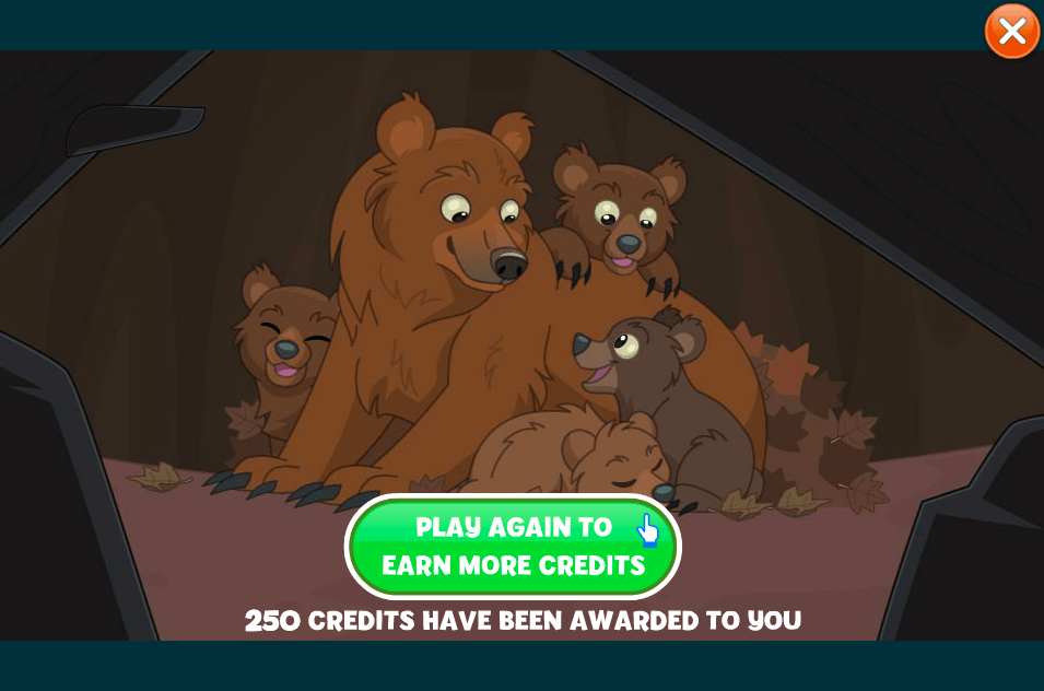 250 Credits Earned Through the Lost Cubs Mini Quest