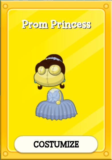 Prom Princess Costume Card