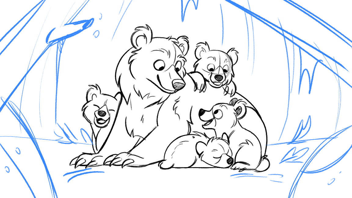 Bear Comic - Mama and her cubs