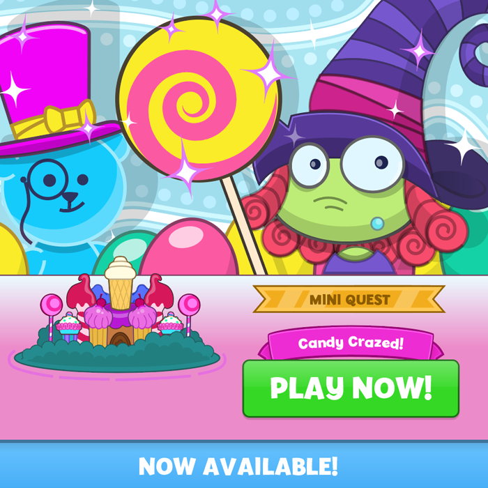 Play the Candy Crazed mini quest now!