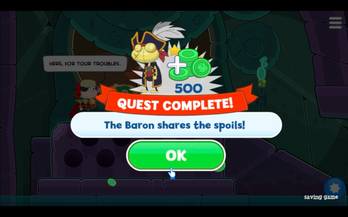The Baron's Crusade quest is complete!