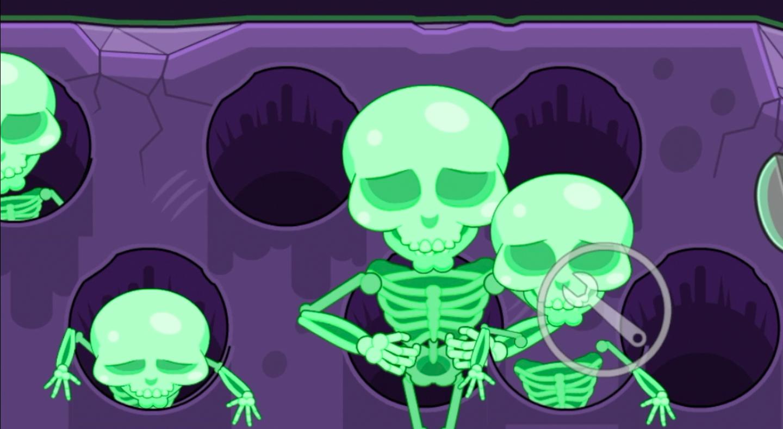 Skeletons guarding the treasure