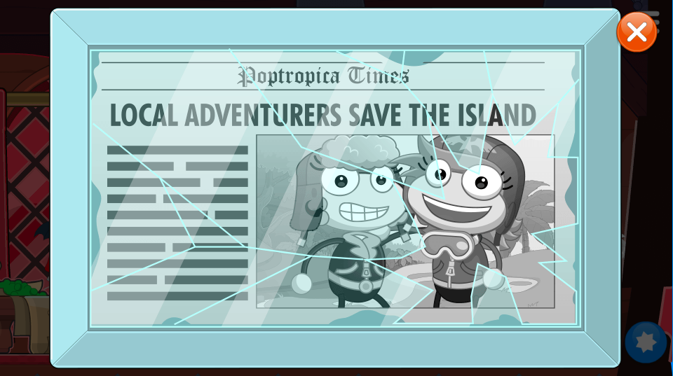 """The Baron and Amelia pictured together - """"Local Adventurers Save the Island"""""""
