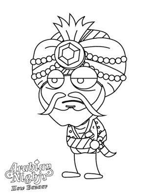 Poptropica's Coloring Pages - Arabian Nights 2
