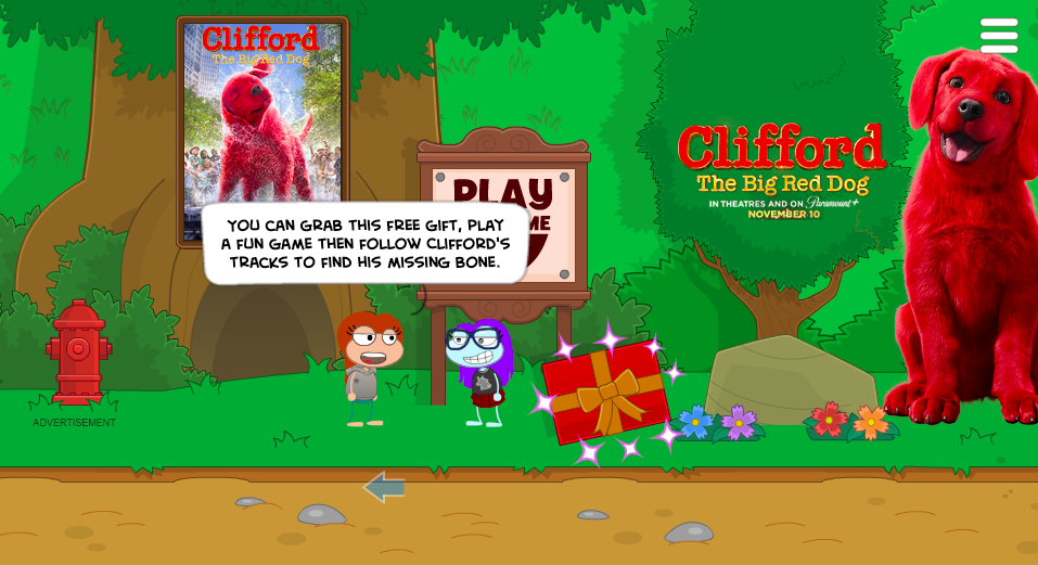 Clifford Island prizes and minigames