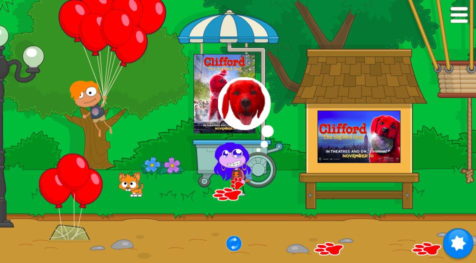 Clifford Emojis and Paw Prints prizes