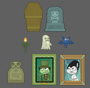 Halloween clubhouse items
