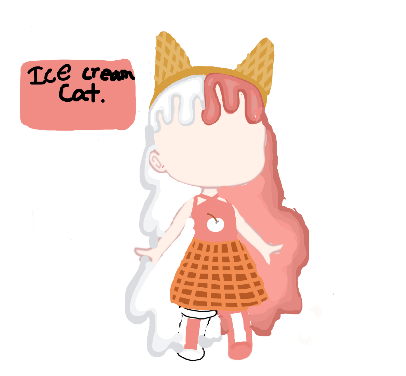 "Silver Flame's ""Ice Cream Cat"" Costume"