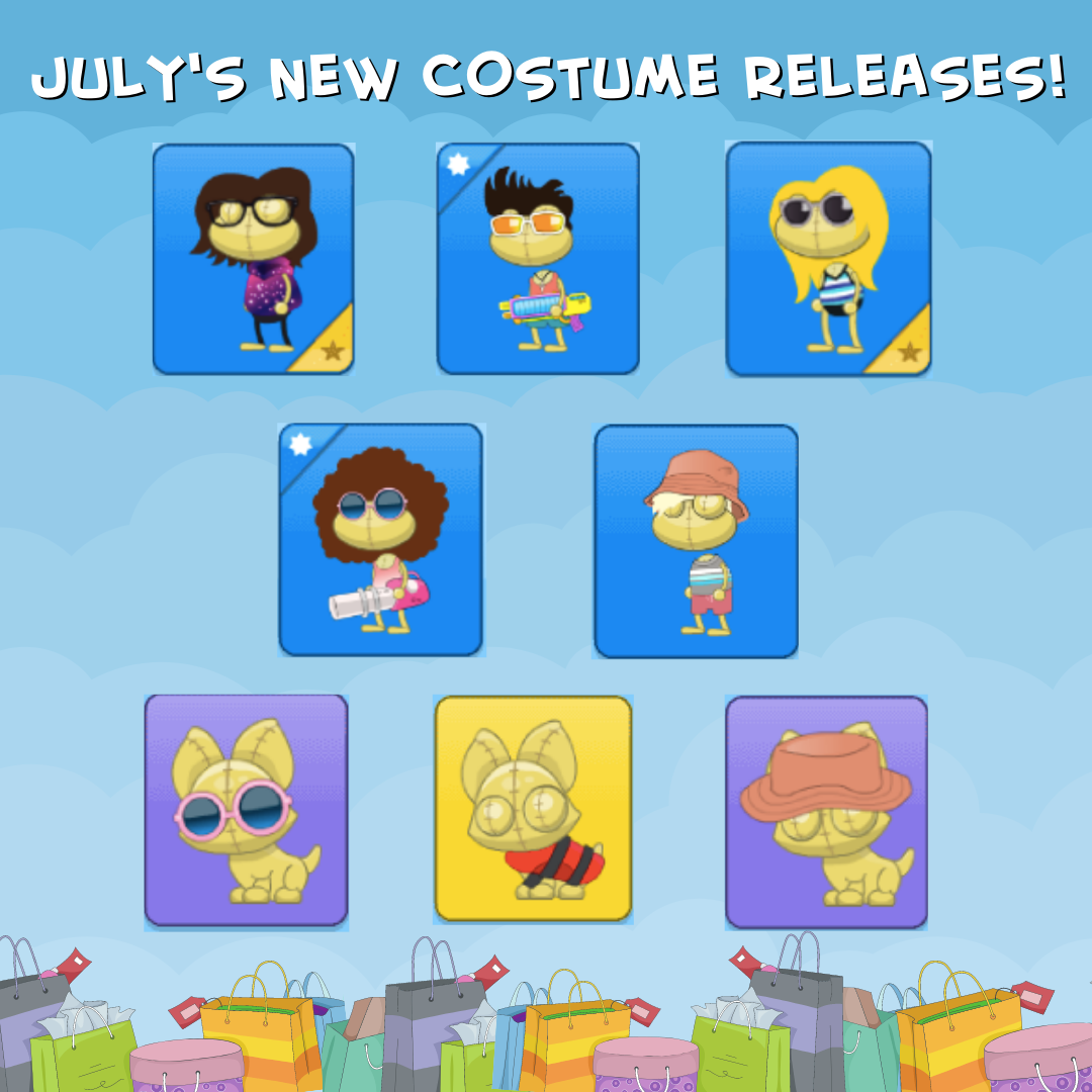 July's New Costume Releases!