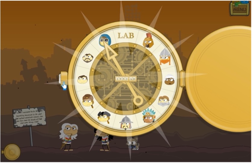 Time device on Time Tangled Island in Poptropica