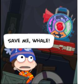 """Save me, whale!"""