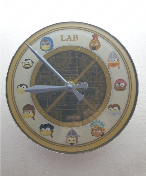 Time Tangled clock on the wall