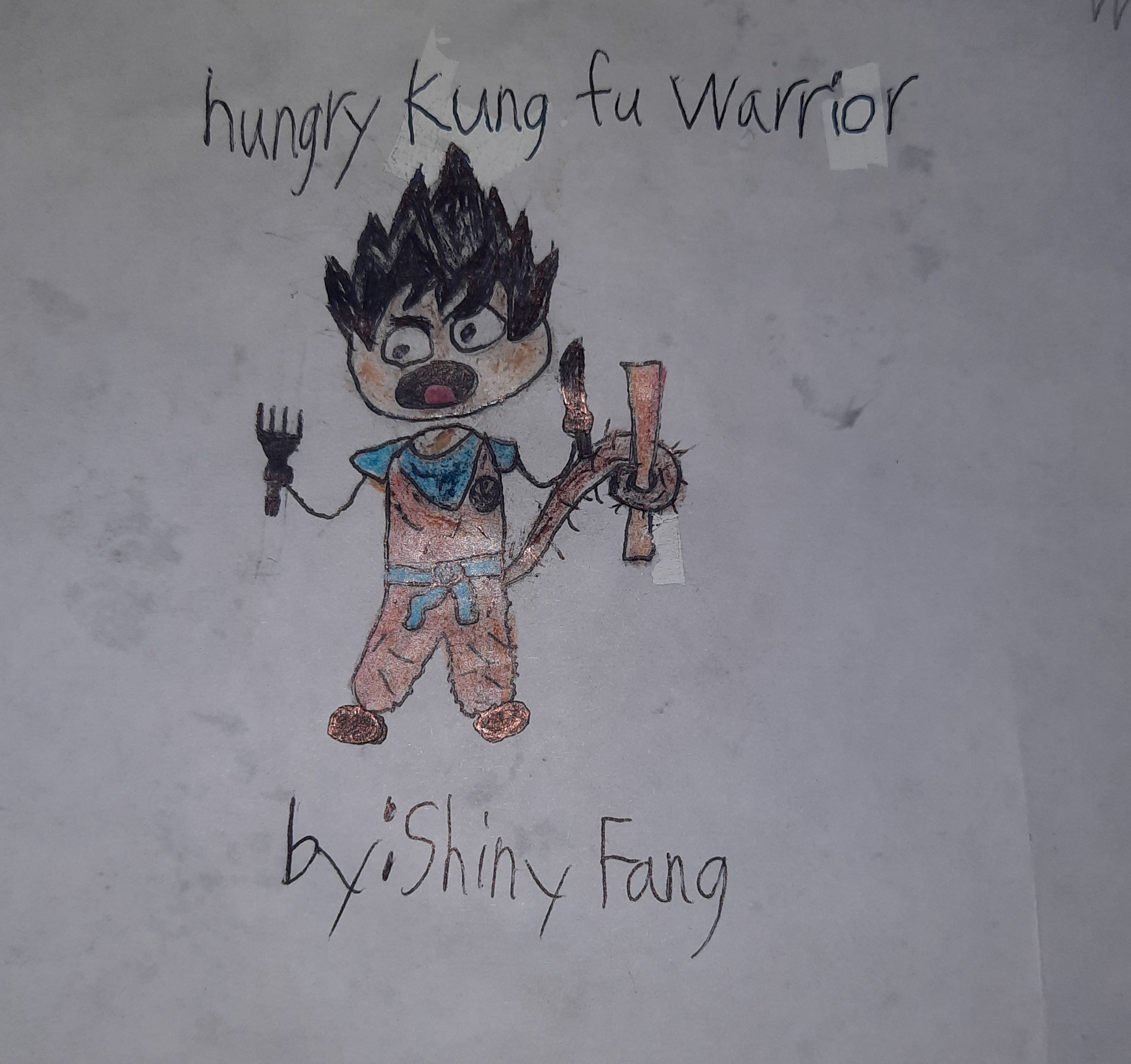 Hungry Kung Fu Warrior by Shiny Fang