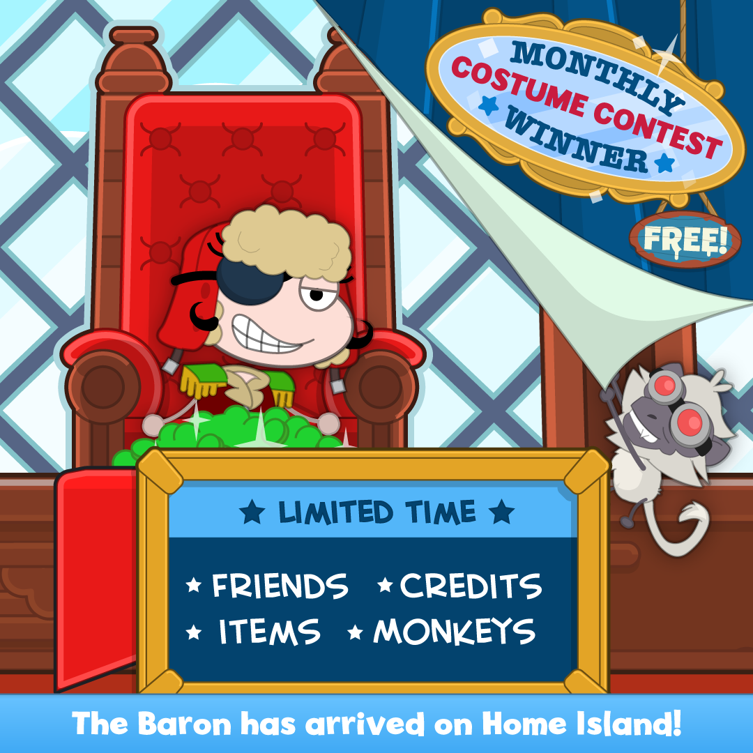 The Baron has arrived to Home Island!