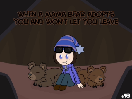 """""""When a mama bear adopts you and won't let you leave"""" by Red Toes"""